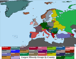 Largest Ethnic Minorities by European Country 2013 by Iori-Komei