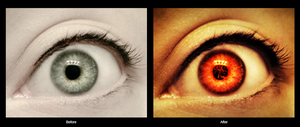 Fire Eye Photomanipulation by Anthrax817