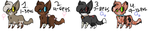 Warrior Cat Adopts by sonicandppglover332