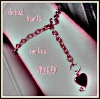 chained heart bracelet by kaidenmoon