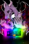 SAVE The World! -Asriel Frisk- Large enoughAsPrint by Jeyawue