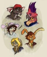 some new/old chars in color c: by Silverbloodwolf98