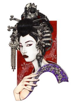 GEISHA OF THE BONES by Zoe-Lacchei