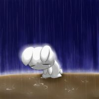 Bunny in The Rain by Evelynism