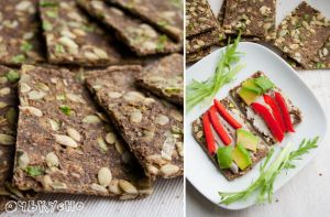 Raw oatmeal bread with pumpkin seeds by julia-caramelina