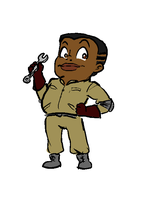 Extreme Ghostbusters - Tiny Roland by Silly-stungun-Millie