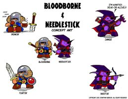 Bloodborne and Needlestick Colored by Dungeonhordes