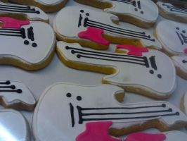 Electric Guitar Cookies by eckabeck