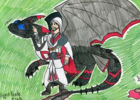 An Assassin and his Dragon by FlygonPirate