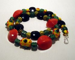 rasta necklace by merpagigglesnort