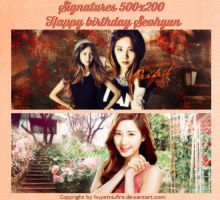 [Pack Signature] Happy birthday Seo Joo Hyun by huyetniufire