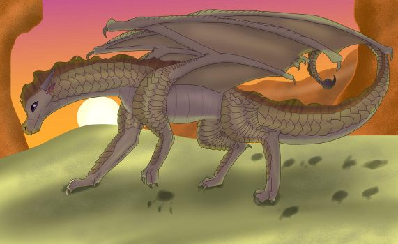 The Sun Sets From Golden Sands, and Golden Scales. by Vision-Seeker