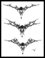 Gothic Lace Tattoo Splash 004 by Quicksilverfury