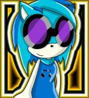 DJ Pon3 as a Sonic Character by SpirittheHedgehog333