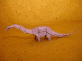 Simple origami Diplodocus by origami-artist-galen