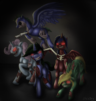 Too much zombies by Shiv3ry
