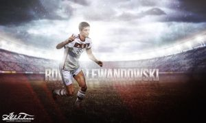 wallpaper Robert Lewandowski 2014-2015 by Designer-Abdalrahman