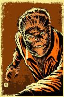 Wolf Man Poster by markwelser