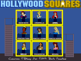 Hollywood Disney Princess Squares by tpirman1982