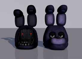 Withered Bonnie and Bonnie by Thessera