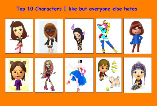 10 Characters I like but others hate by Sarahinc