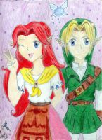 Malon and Link by Melfina-da-littleone