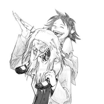 Simon and Marcy - Laughing by Ghashak