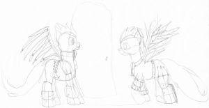 Contest entry: Steampunk ponies (wip) by WoefulWriters