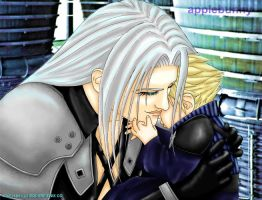 Sephiroth and Little Cloud by applebunny