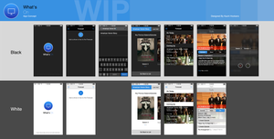 What's On App Concept (Work in Progress) by Ohsneezeme
