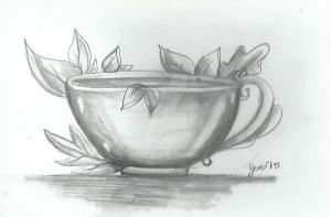 Sketchbookchallenge day 20 cup of autumn by PlushieBeauty