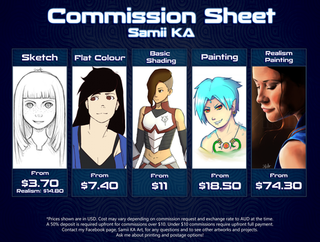 Commission Sheet - DETAILS IN DESCRIPTION by SamiiKA