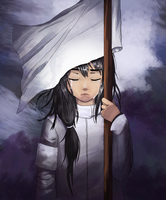 Warrior - White Flag Bearer by FellenLeaf