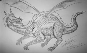 dragon sketch by Buntarika