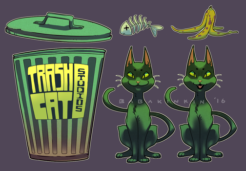 TrashCatStudio logo sheet commission by BabaKinkin