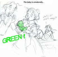 The baby is unnaturally... by MarineElphie