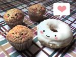 Donut loves Muffin by VioletLunchell