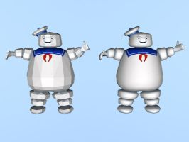 Stay Puft Marshmallow Man WIP by billybob884