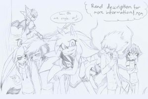 .:SFN1'S SINGLE SONIC CHARACTERS:. by SilverfanNumberONE