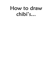 How to draw Chibi's by Plumey