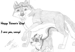 Kitara and Fang - Happy Father's Day by MortenEng21
