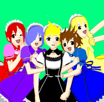 KH Maids 8D by MelloOnChocolate