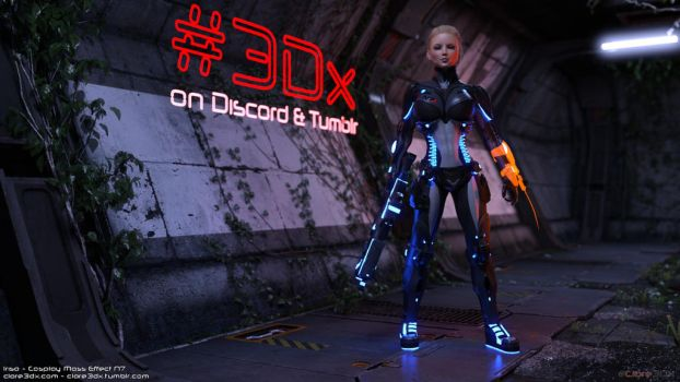 Irisa-cosplay-mass-effect-n7-004a by Clare3Dx