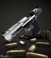 Desert Eagle .50AE 3D Render by Beppe87