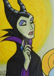 Maleficent and Aurora Double ACEO Set MalefiDetail by LadyNin-Chan