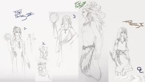 FF 4, 6, 10 Sketches by QuaterComet