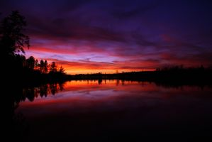 north-woods sunset by non-probitas