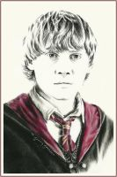 Ron Weasley by thewholehorizon