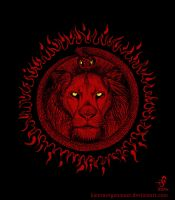 Lion-Serpent Sun by KainMorgenmeer