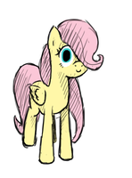Filly Fluttershy by FiddleArts